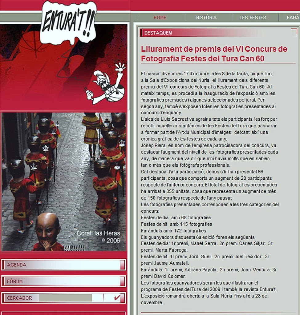 VI Concurs de Fotografia Festes del Tura Can 60 – 2008