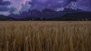 Posta de sol a Montserrat