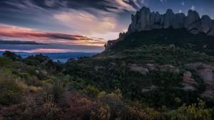 Sortint per la Foradada de Montserrat